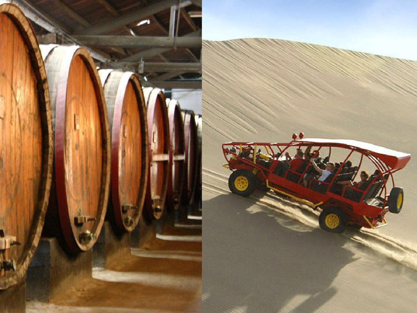 full day tubulares + tour de bodegas en Ica.