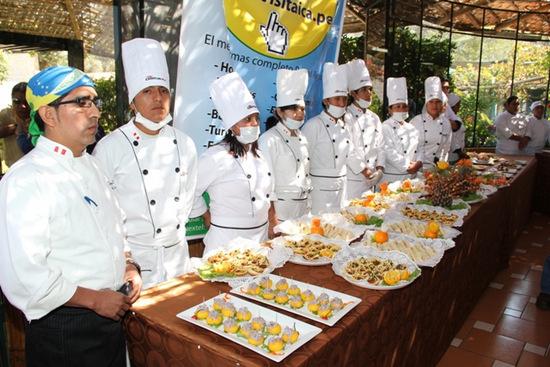 Buffet de platos típicos de Ica